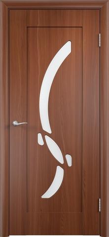 Дверь Верда Милена, цвет итальянский орех, остекленная