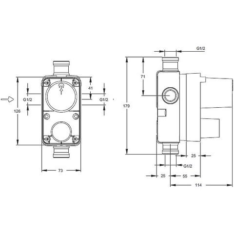E882 встроенная часть Jacob Delafon схема