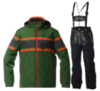 Мужской горнолыжный костюм Almrausch Staad-Lois 320103-121326 зеленый
