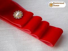 Лента Бархатная красная 38 мм