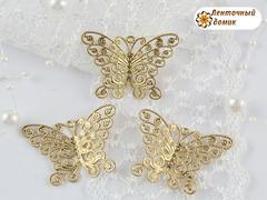 Филигрань бабочка ажурная золотая