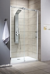 Душевая дверь  Radaway Espera DWJ L  140x200 см. левая, профиль хром, стекло прозрачное 380114-01L