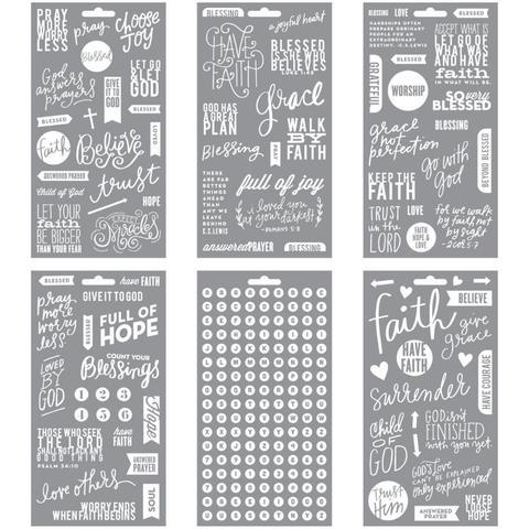 Стикеры ацетатные -на прозрачном пластике Me & My Big Ideas Pocket Pages Clear Stickers - Faith