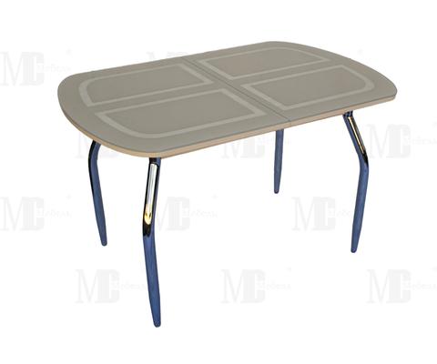 Стол обеденный МС мини прямоугольный бежевый, дуб светлый