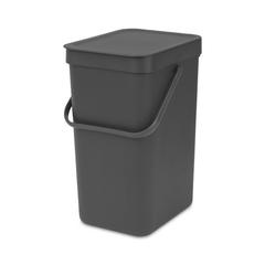 Ведро для мусора Brabantia Sort&Go серое 12л