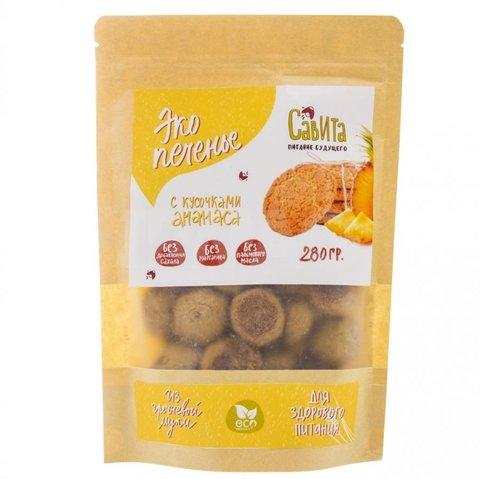 Савита эко печенье с кусочками ананаса 280 г