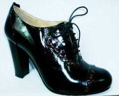 Туфли на толстом каблуке демисезонные