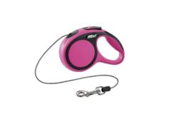 Flexi New Comfort XS 3м. 8кг., рулетка-трос (розовая)