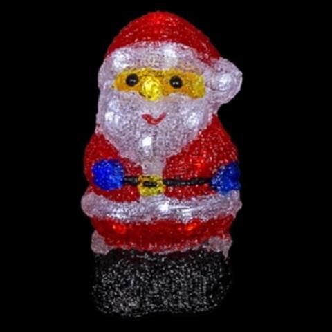 Дед мороз 20*12 см акриловый