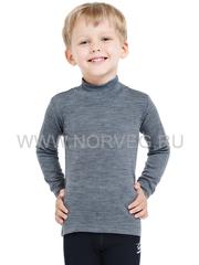 Терморубашка из шерсти мериноса Norveg Soft City Style Grey Melange детская