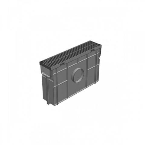 Пескоуловитель для пластик.лотков ПУ 10.11,5.32 пластиковый с решеткой РВ-10.11.50 ПЛАСТИКОВЫЙ Gidrolica комплект
