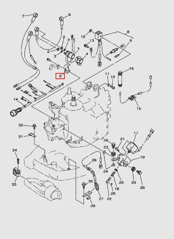 Кронштейн реле стартера  для лодочного мотора T40 Sea-PRO (10-5)