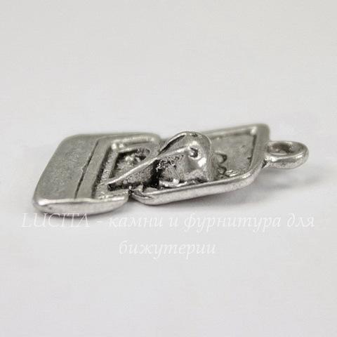 """Подвеска """"Кольцо в шкатулке"""" 20х13 мм (цвет - античное серебро)"""