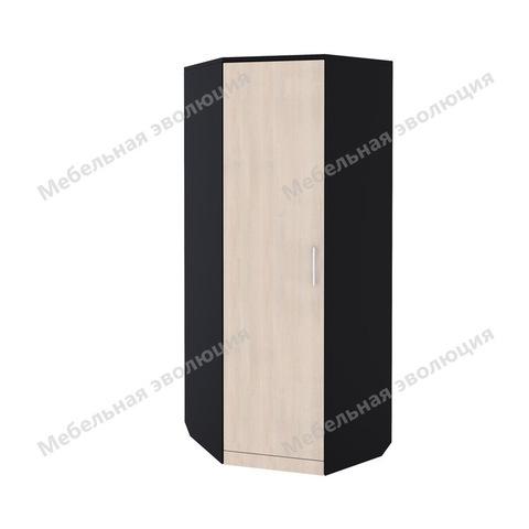 Угловой шкаф со штангой и полками