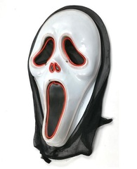 Крик маска Лицо Призрака с неоновой подсветкой
