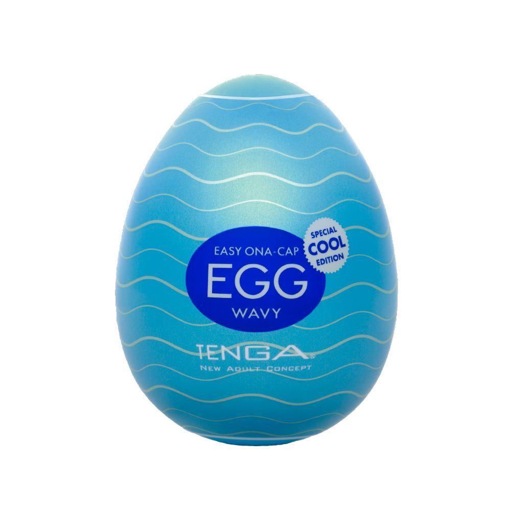 Мастурбаторы: Мастурбатор-яйцо с охлаждающей смазкой COOL EGG