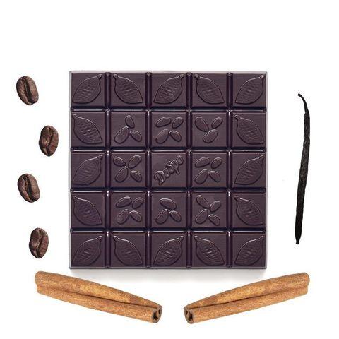 С кофе, ванилью, корицей, 72% какао