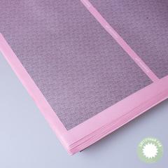 Бумага упаковочная розовая с полосой 60*60см