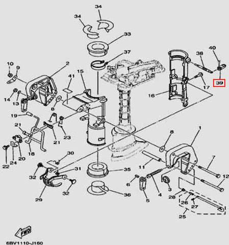 Ручка для лодочного мотора F5 Sea-PRO(16-39)