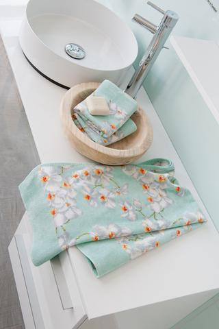Элитная салфетка шенилловая Orchidee 156 mint от Feiler