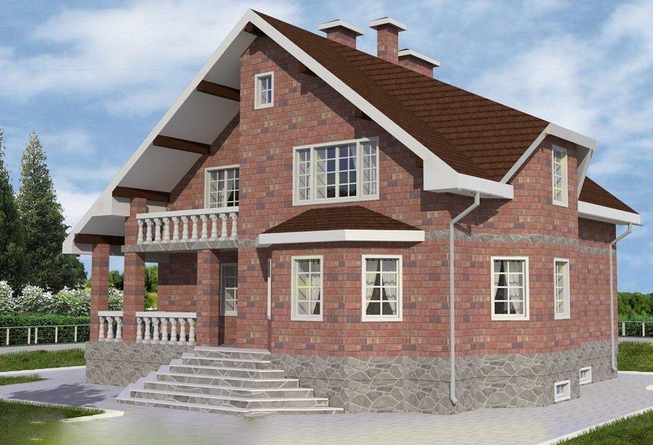 """Строительство каменных домов Дом из камня """"МД-К-318"""" 318 кв.м. k-318.jpg"""
