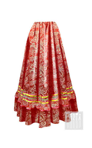Фото Казачья Праздничная юбка женская рисунок Выбирайте лучший казачий костюм в Мастерской Ангел. Мы специализируемся на народной, в том числе, казачьей одежде!
