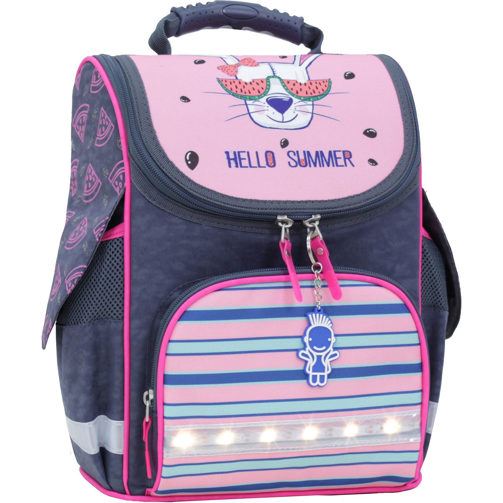 Школьные рюкзаки Рюкзак школьный каркасный с фонариками Bagland Успех 12 л. серый 204к (00551703) IMG_0038.JPG
