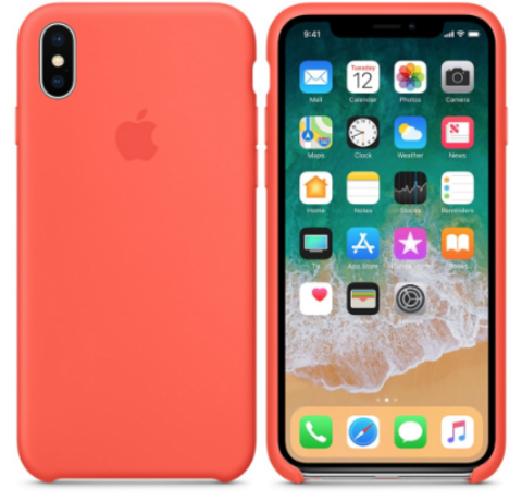 iPhone X/XS Silicone Case Абрикосовый