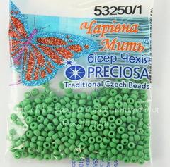 53250 Бисер 10/0 Preciosa Керамика матовый бледно-зеленый