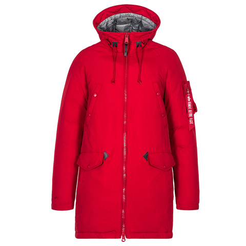 Парка Alpha Industries N-3B Down Parka Commander Red (красная)