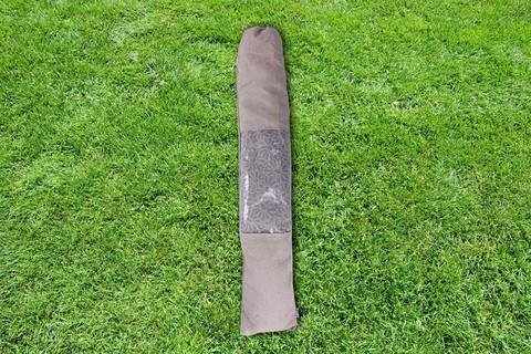 Гамак из льна с планкой серый с ромашками RG22ROM