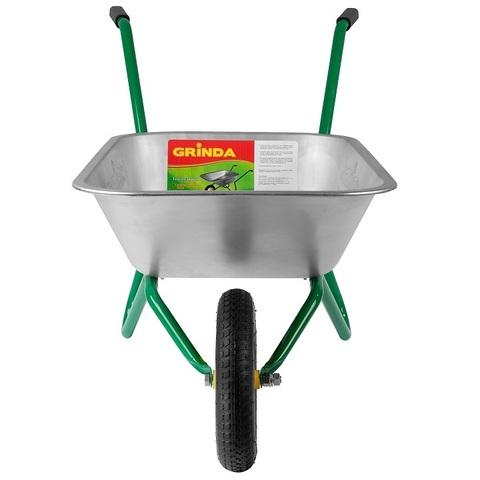 Тачка GRINDA садовая, 75 кг, 80 литров (422399)