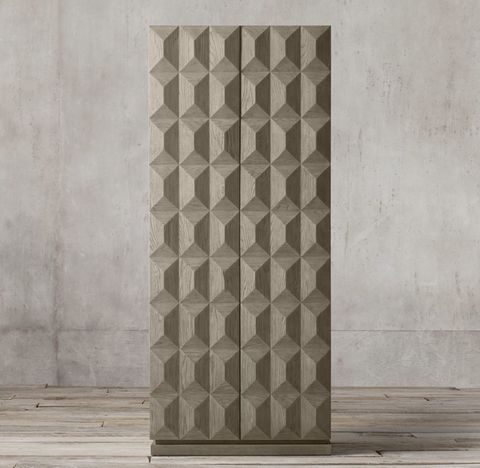 Geometric Double-Door Cabinet