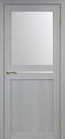 Дверь Optima Porte Турин 520.221, стекло матовое, цвет дуб серый, остекленная