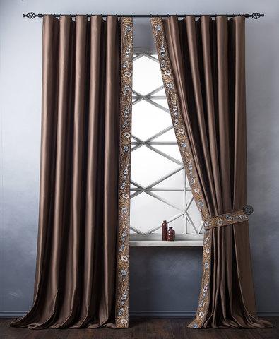 Комплект штор Форева коричневый