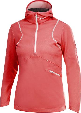 Толстовка женская Craft Active Logo Hood красная Распродажа