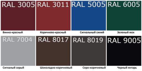 Кровельное Ограждение длина 1860мм по ОПТОВОЙ цене - Купить в Казани палитра цветов цвета