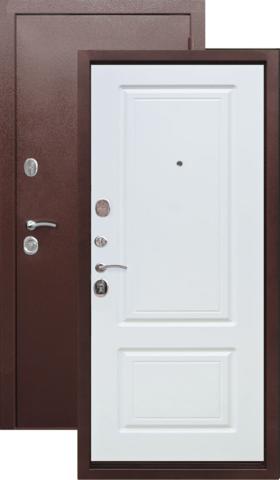 Тёплая дверь входная Цитадель Толстяк 10 см, 2 замка, 1,4 мм  металл, (медь антик+ясень белый)