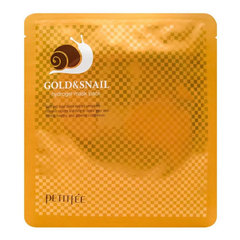 Petitfee Gold & Snail Hydrogel Mask Pack - Гидрогелевая маска для лица с золотом и экстрактом слизи улитки