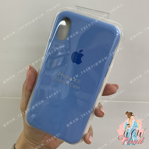 Чехол iPhone X/XS Silicone Case /cornflower/ синие сумерки original quality