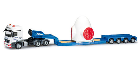 Herpa 302050 Грузовой автомобиль Mercedes-Benz Actros L low boy semitrailer with hub