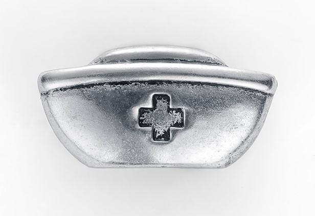 Брошь Шапочка медсестры (серебряный цвет)