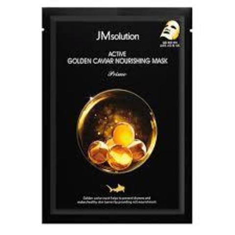 Питательная Тканевая Маска С Золотом И Икрой JM SOLUTION Active Golden Caviar Nourishing Mask Prime