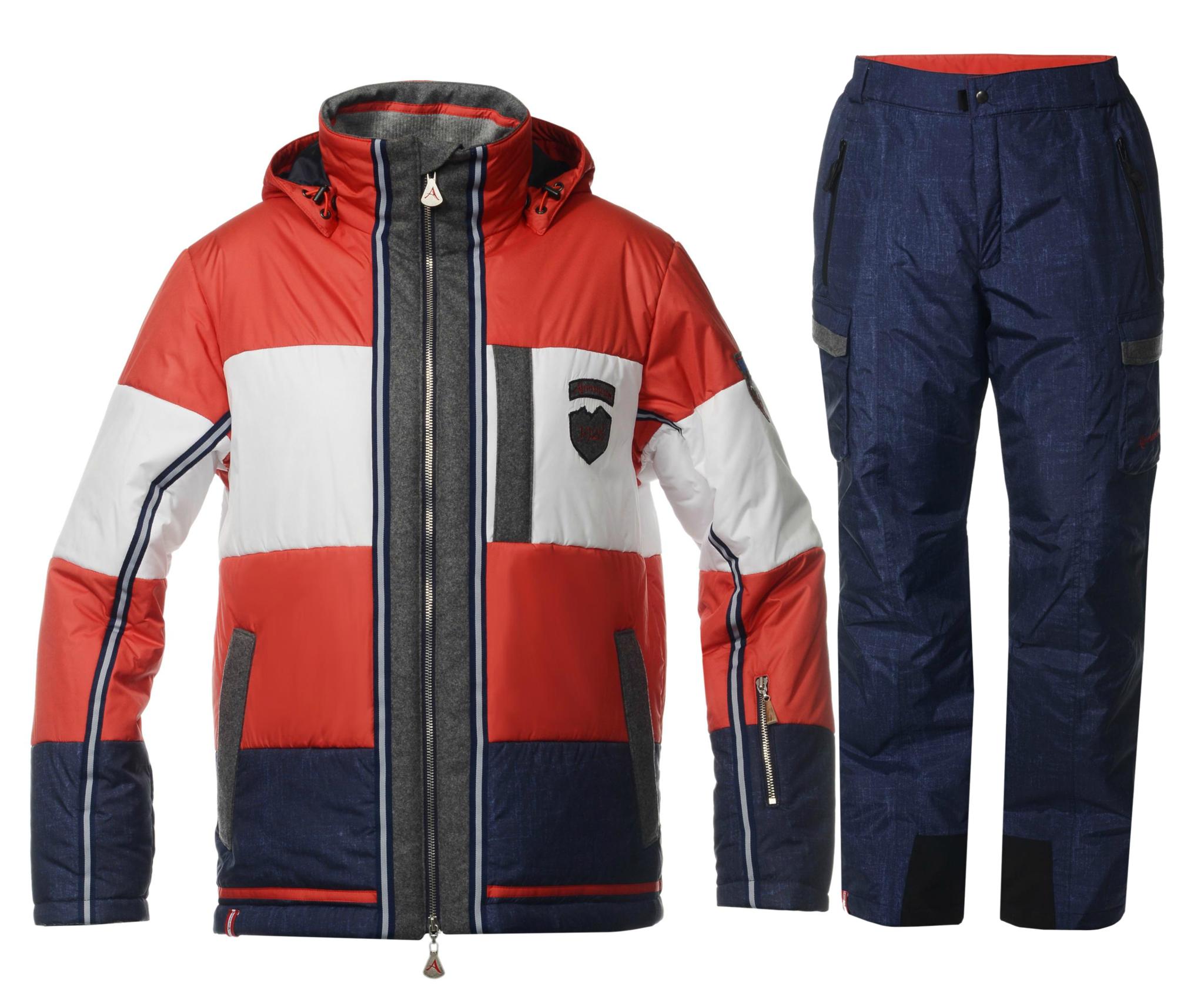 Мужской горнолыжный костюм Almrausch Steinpass-Hochbruck 320109-321300 красный фото
