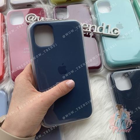 Чехол iPhone 11 Pro Silicone Case Full /alaskan blue/
