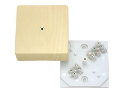 Коробка распаячная КР 75х75х20 ОП сосна, с клем. колодкой, IP40, инд. штрихкод TDM