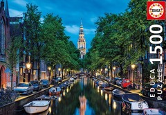Пазл Amsterdam Canal At Dusk 1500 Parça Puzzle