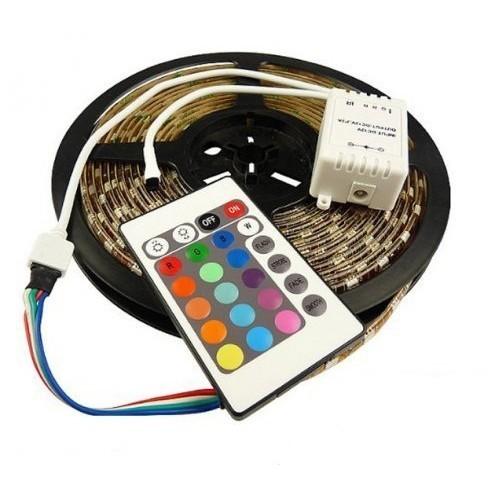 Светодиодная лента с пультом (RGB контроллеры) - 5 метров