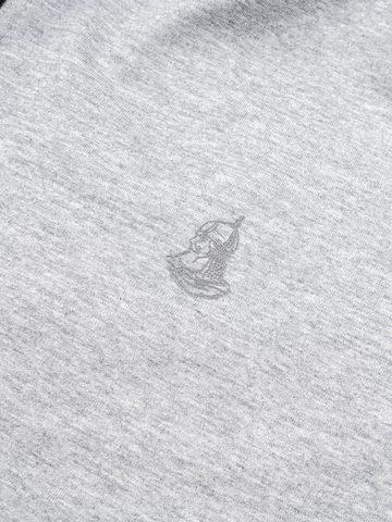 Толстовка на молнии «Великоросс» цвета серый меланж