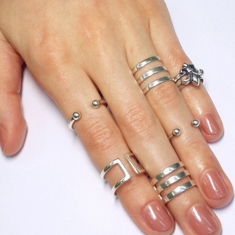 Phalanx Ring Knuckle, the big one, Sterling Silver